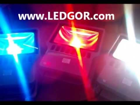 100W LED Flood light LED Projector Light Red Blue White Color Outdoor use - Ledgor  sc 1 st  YouTube & 100W LED Flood light LED Projector Light Red Blue White Color ...