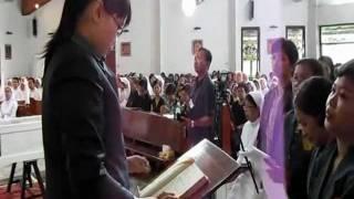 """Mazmur Tanggapan """"Tuhanlah Gembalaku"""" PS.849 Misa Requiem sr M.Valentina FCh"""