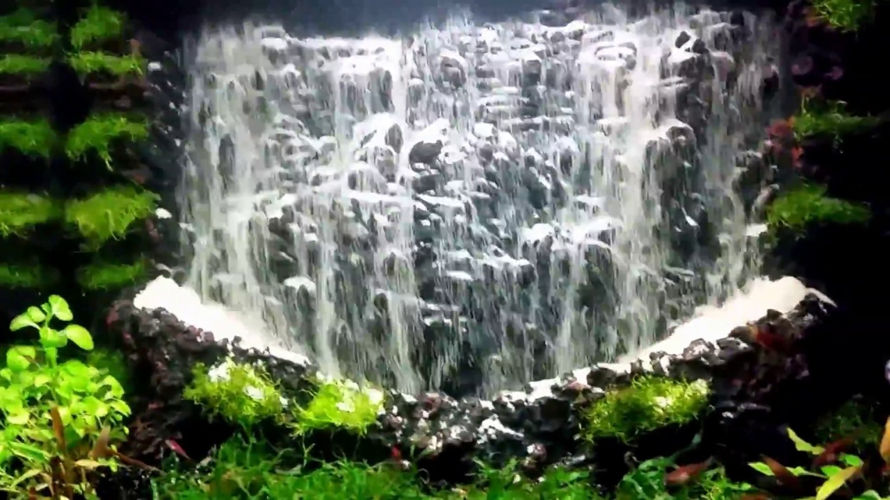 the world s largest waterfall in the aquarium aquarium sand