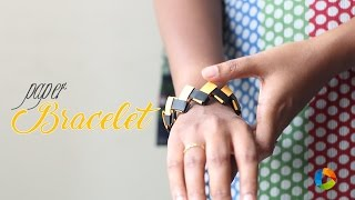 How to Make : Origami Paper Bracelet