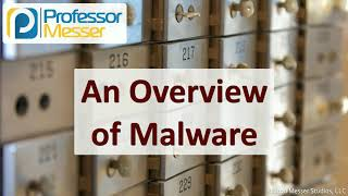 An Overview of Malware - SY0-601 CompTIA Security+ : 1.2
