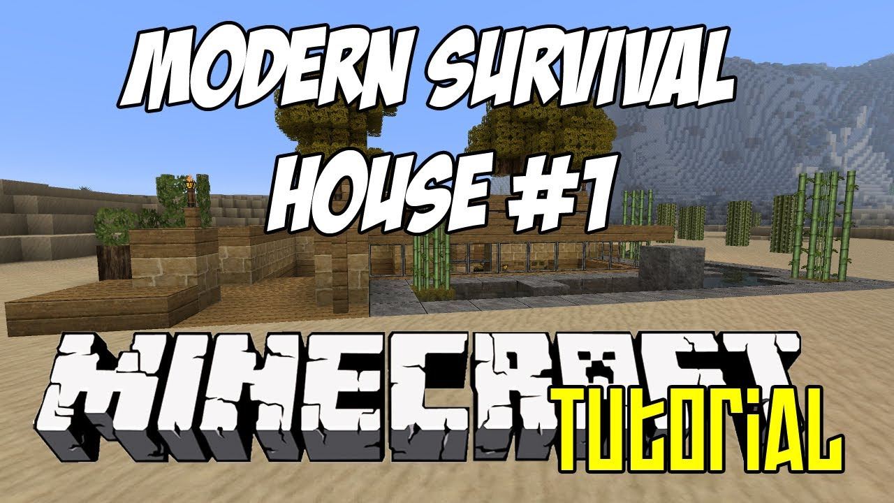 Minecraft Tutorial HD Modern Survival House 1 YouTube