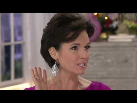 Vicenza Silver Sterling Diamond Cut Dangle Earrings on QVC