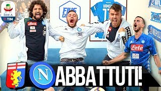 ABBATTUTI!!! GENOA 1-2 NAPOLI   LIVE REACTION NAPOLETANI HD
