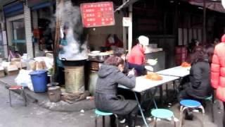中国庶民の味 食堂街 宝鶏市 The China people