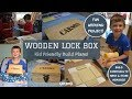 How to Build a Wooden Lock Box | GREAT Kids Woodworking Project | Copewood