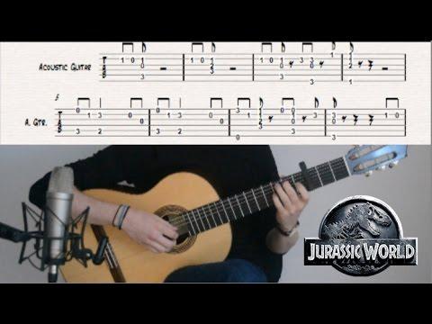 How to Play: Jurassic World Main Theme - Guitar Tutorial by CallumMcGaw