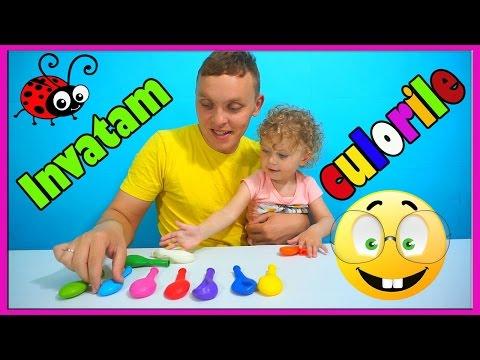 INVATAM CULORILE Cu BALOANE☺Video Educativ Pentru Copii☺Learn Colors With Balloons☺Finger Family