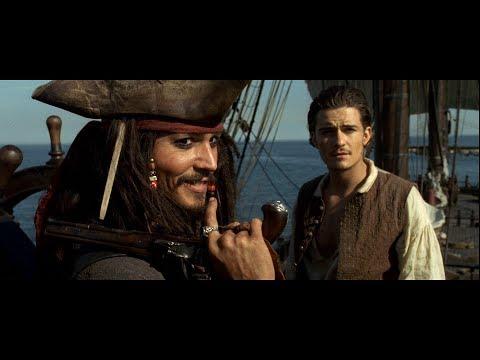 Джек Воробей и Уилл Тёрнер пробираются на корабль и захватывают его. HD