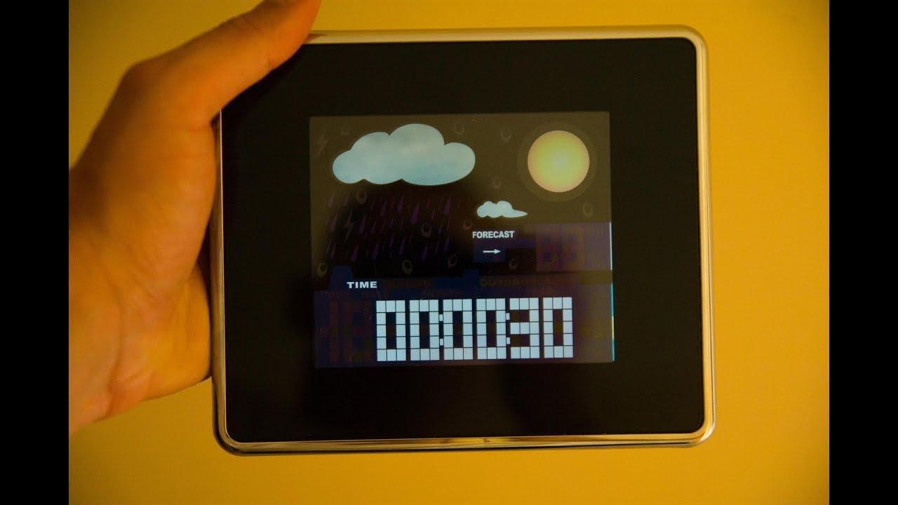 часы метео станция Tcm 269250 Youtube