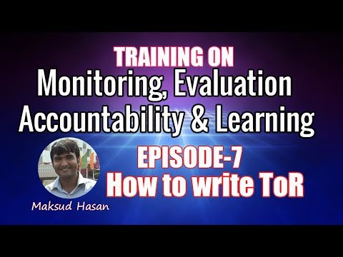 EPISODE-7: How to write ToR | Maksud Hasan | Versatile Forum | Terms of Reference | M&E Training