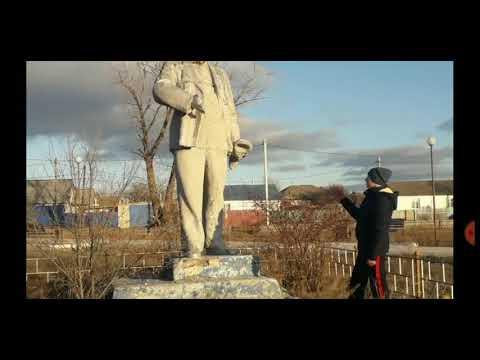 Заброшенный памятник Ленину в городе Фролово