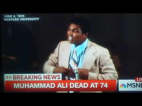 MUHAMMAD ALI 1975 speech(HARVARD UNIVERSITY)