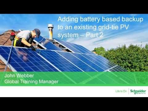 [Webinar Replay] Adding Backup to an existing PV system- Part 2