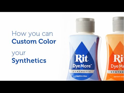 How to Dye Polyester, Synthetics and Plastic with Rit DyeMore - YouTube
