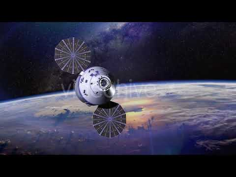 Space Satellite Orbiting The Earth ( Motion Graphics -  Space)