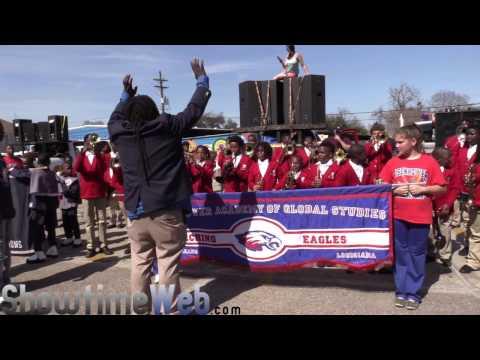 Coghill vs Lafayette Academy vs Eisenhower Academy Marching Band - 2017 Mardi Gras Parade