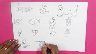 ALPHABETS DRAWING || How easy it is to  Turn Alphabets into Friendly  Figures| || Fun with Alphabets
