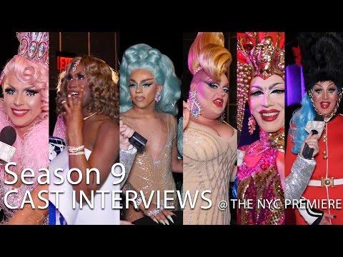 RuPaul's Drag Race SEASON 9 FULL CAST INTERVIEWS (@ NYC Premiere)