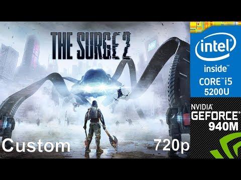 The Surge 2 on Overclocked 940m + Core i5 5200u, HP Pavilion 15 AB032TX Laptop, Custom Setting, 720p