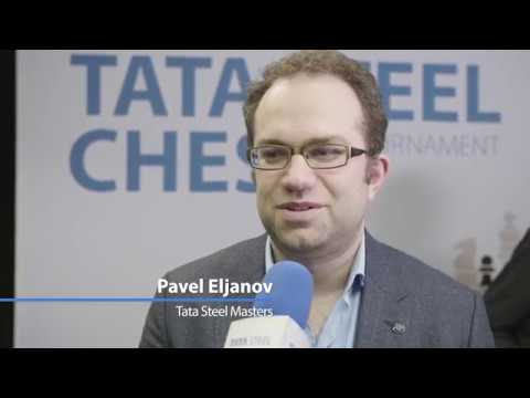 Interview with tournament leader Pavel Eljanov - Tata Steel Chess 2017