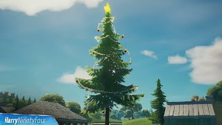 Dance at Different Holiday Trees All Locations - Fortnite