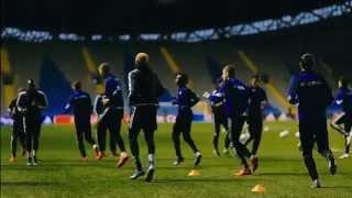 Видео обзор тренировки матча Астана - Атлетико(Матч группового раунда Лиги чемпионов между