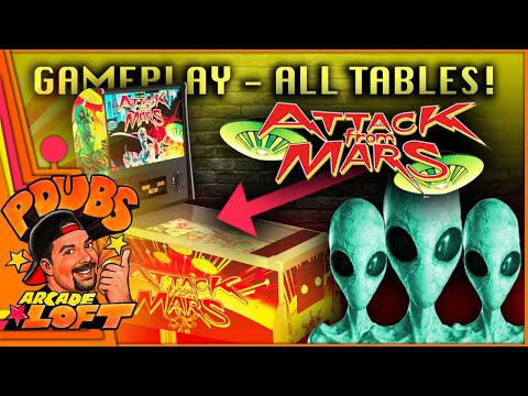 Arcade1Up Attack From Mars Pinball Gameplay! All 10 Tables! from PDubs Arcade Loft