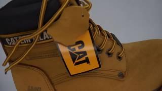 Желтые ботинки CAT