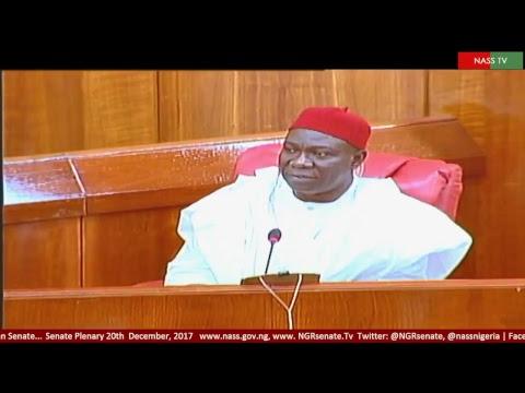 Senate Plenary, 20th December, 2017