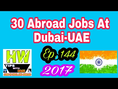 New 30 Jobs At Dubai-UAE, With 500$ To 3000$ USD Salary P.M. ...