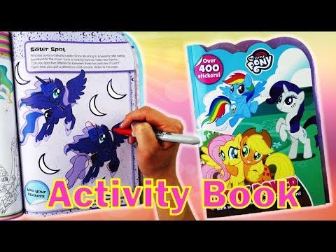 My Little Pony Activity Book Pony Power With Rainbow Dash Coloring And Sticker Book