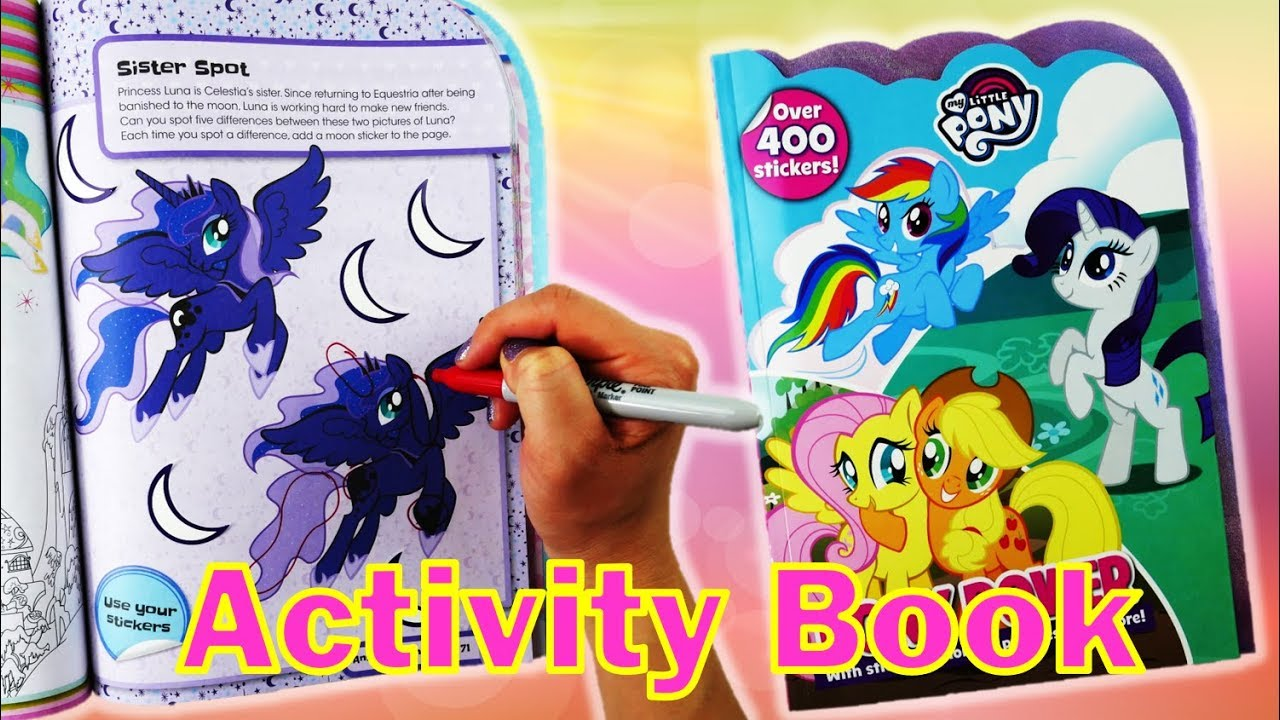 My Little Pony Activity Book Power With Rainbow Dash Coloring And Sticker