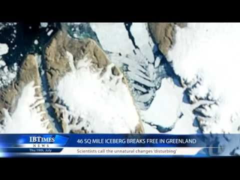 46 sq mile iceberg breaks free in Greenland