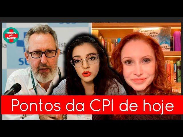 PONTOS IMPORTANTES DA CPI HOJE - 1ª PARTE | NATÁLIA PASTERNAK E CLAÚDIO MAIEROVITCH