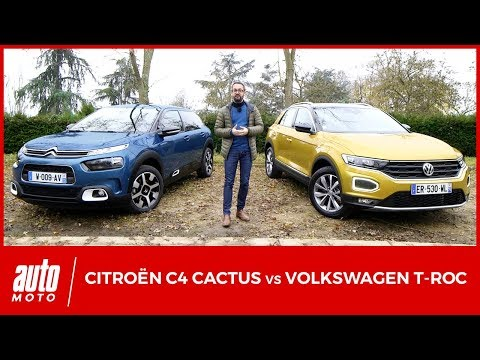 Citroën C4 Cactus vs Volkswagen T-Roc  : premier duel