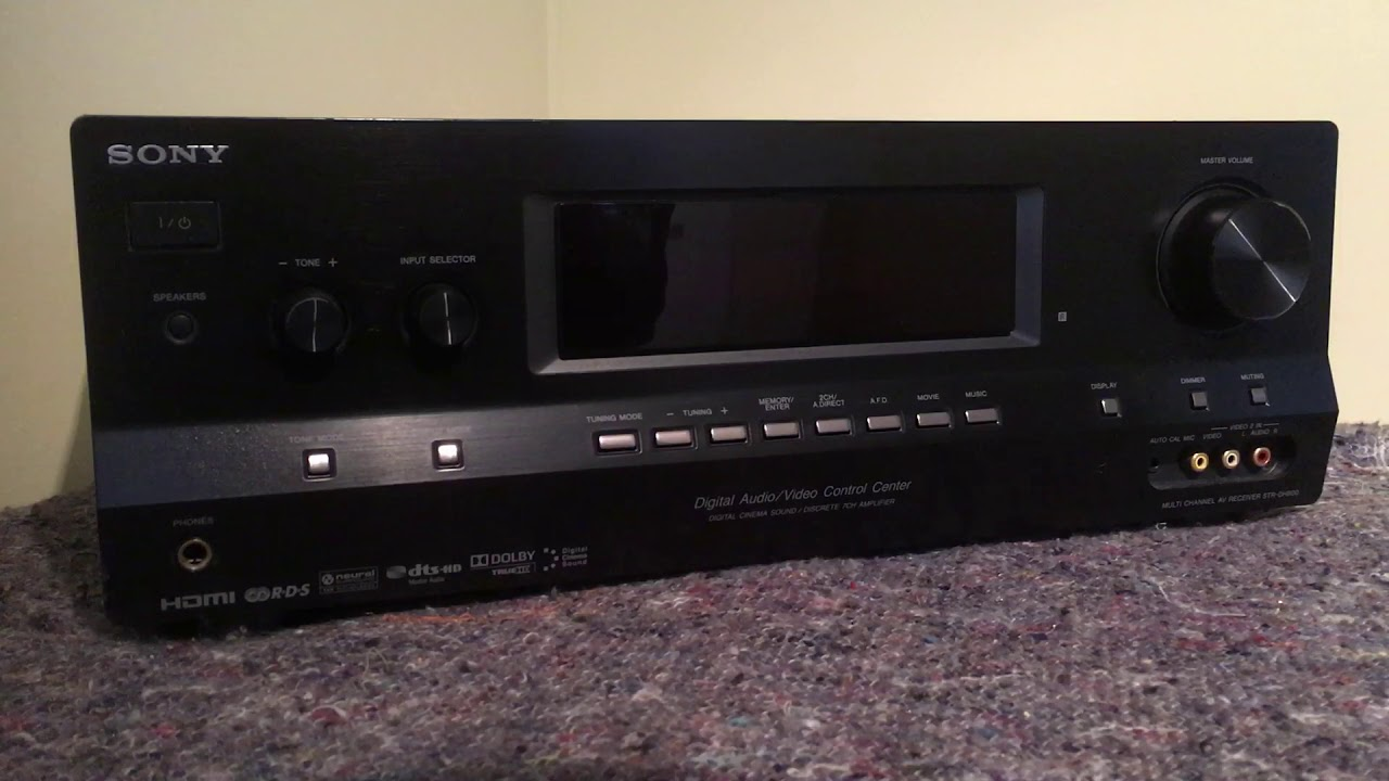 How to reset the Sony STR-DH800 AV Receiver