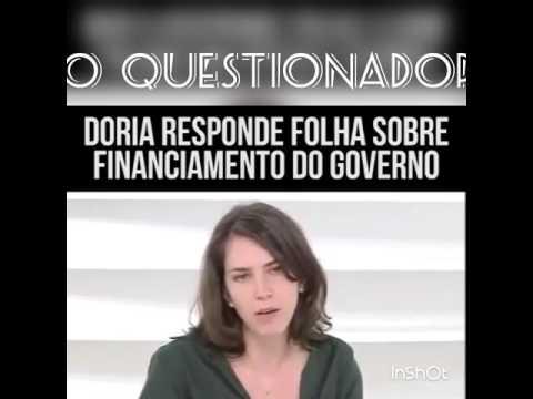 DORIA X FOLHA DE SÃO PAULO - RESPOSTA ÉPICA!!!