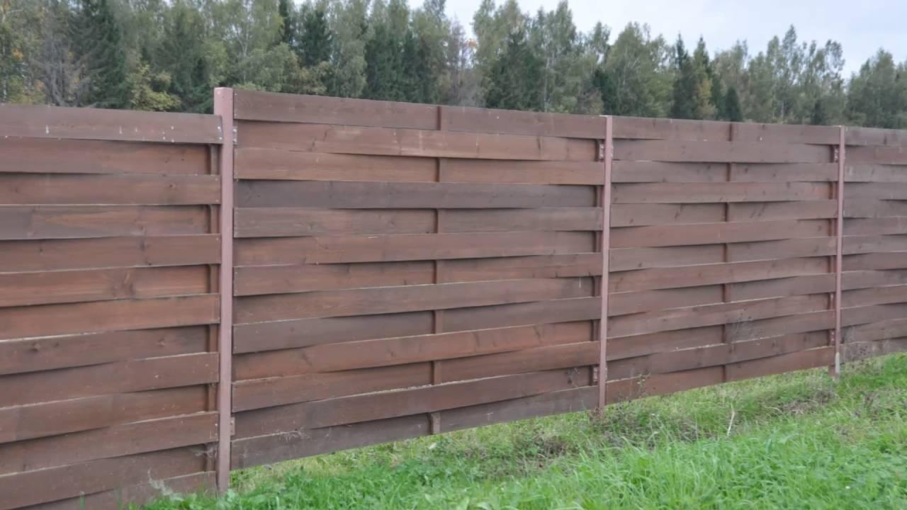 Оригинальный забор из дерева своими руками фото 470