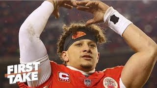 Patrick Mahomes needs to be the hero to beat Tom Brady and Drew Brees | First Take thumbnail