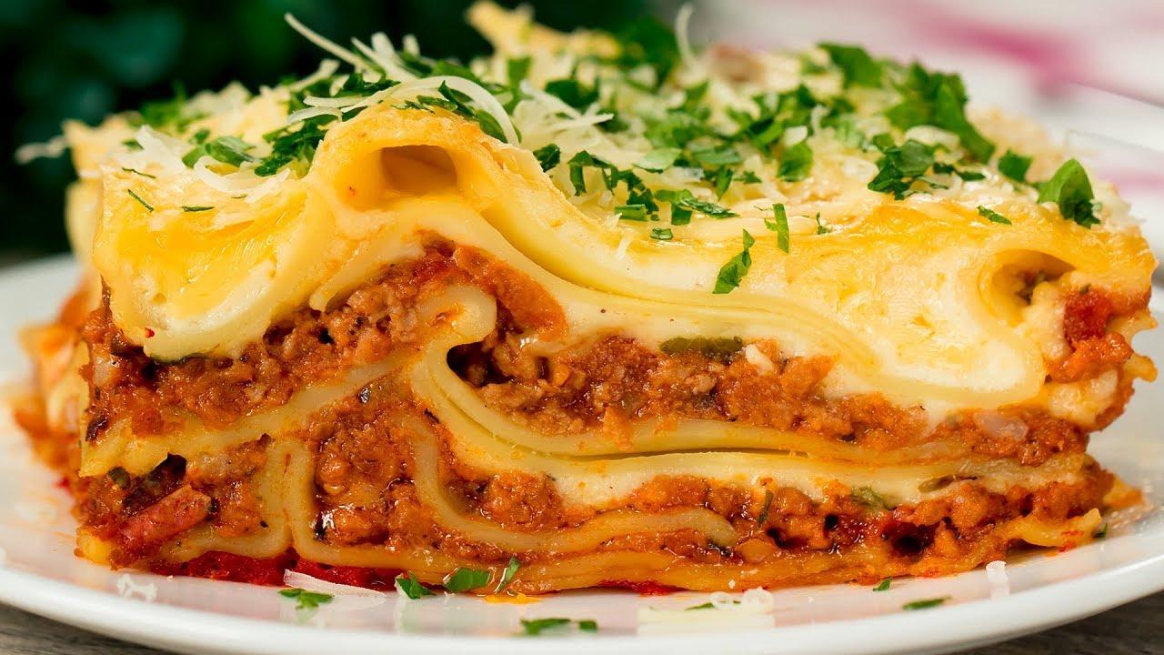 Ricetta Lasagne Fatte In Casa.La Migliore Ricetta Di Lasagne Fatte In Casa Una Vera Prelibatezza Saporito Tv Youtube