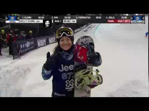 Kelly Clark wins GOLD in Snowboard SuperPipe