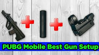 PUBG MOBILE: BEST GUN SETUP AUG A3 + AR COMPRESSOR + RED DOT || INCREASE RECOIL AND DAMAGE