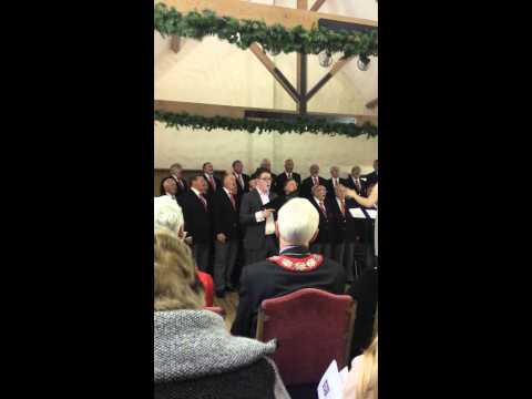 Bargoed Male Voice Choir (Im in) singing Myfanwy