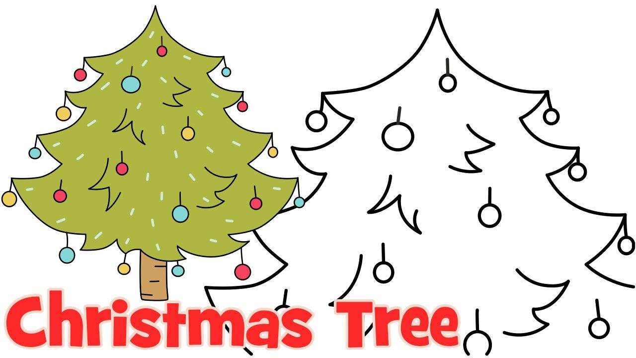 Easy Drawing Christmas Tree Christmas Easy Drawing Easy Drawings