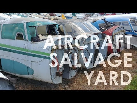 An Aircraft Salvage Yard in North Texas - YouTube