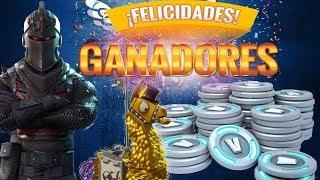 GANADORES DEL SEGUNDO SORTEO OFICIAL DE PAVOS/FORTNITE SORTEO 2