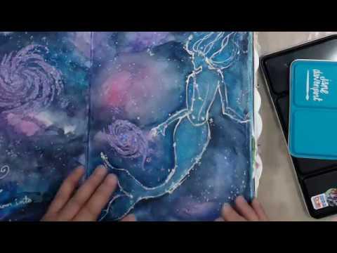 JANE DAVENPORT MIXED MEDIA JOURNAL~WATERCOLORS~Glitz-sea Palette