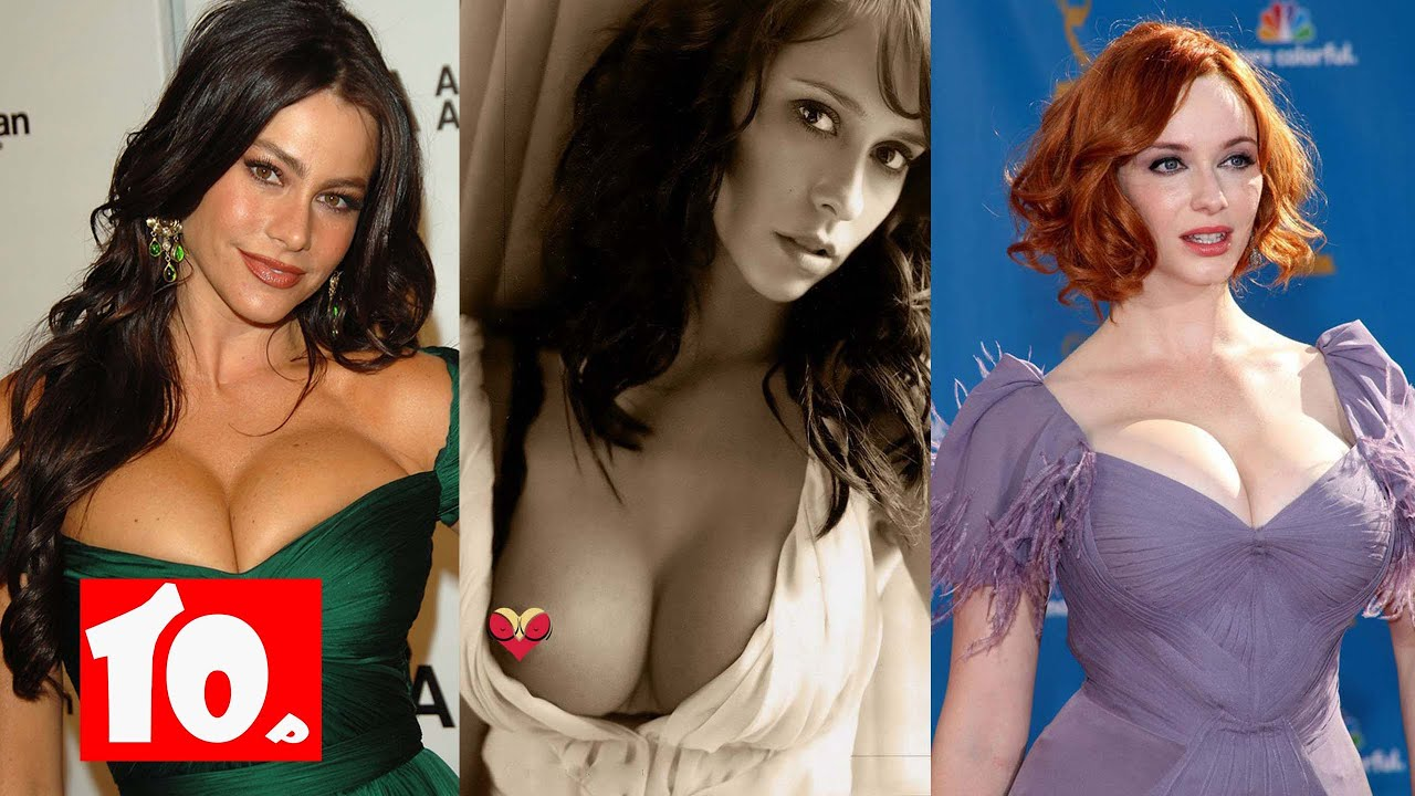 top 10 hot celebrities with natural big boobs - youtube