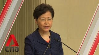 Hong Kong protests: Carrie Lam reiterates extradition Bill is